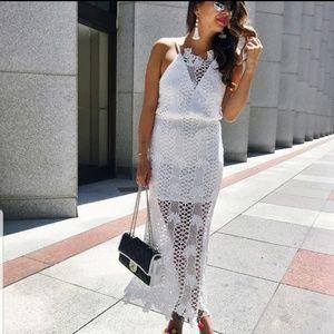🎄🆕️ Beautiful White Lace Strap Dress